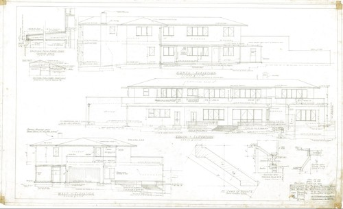 Thomas Mann House: exterior elevations
