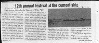 12th annual festival at the cement ship
