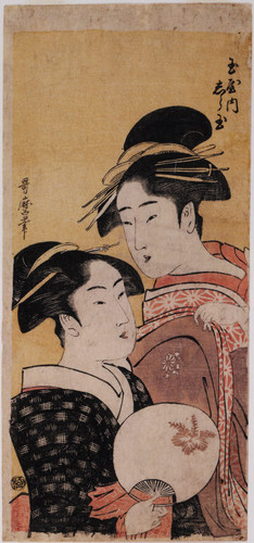 Okita of the Naniwaya tea stall and Shiratama, a courtesan of the Tama House