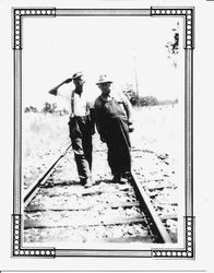 P&SR railway line crew in February,1937 at work on the tracks