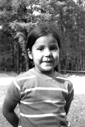 Unidentified girl at the Greenville Bear Dance--1972