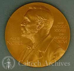 Nobel Prize medal awarded to George Beadle in 1958 (A)