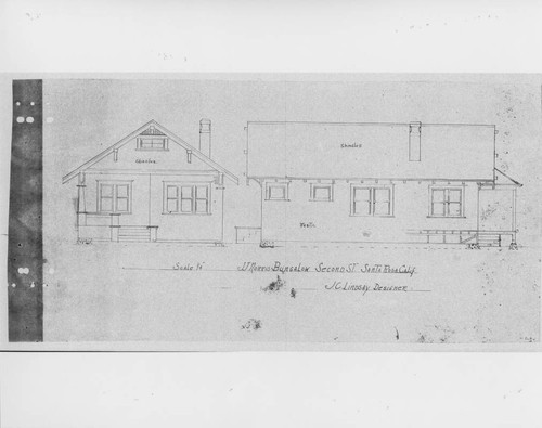 Calisphere architectural drawing for a craftsman style bungalow architectural drawing for a craftsman style bungalow located at 741 second street santa rosa malvernweather Choice Image