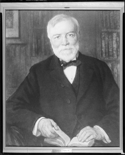 Portrait painting of Andrew Carnegie