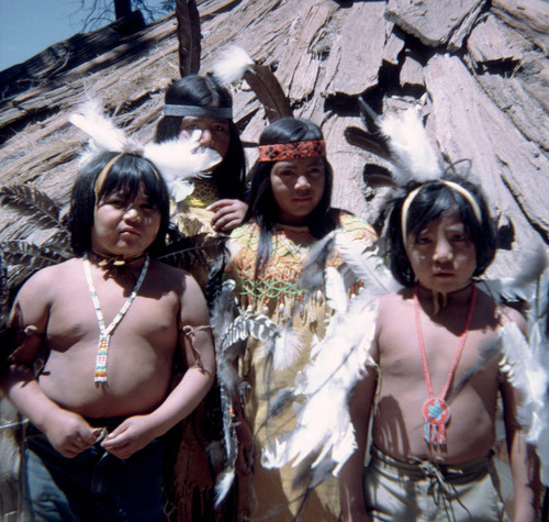 Ike Leaf's Indian dance students at the Janesville Bear Dance--1972