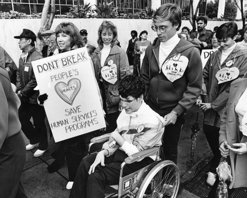 Rallying for poor and disabled