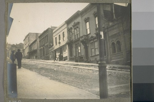 [Street scene. Presbyterian Mission for girls, left distance.]