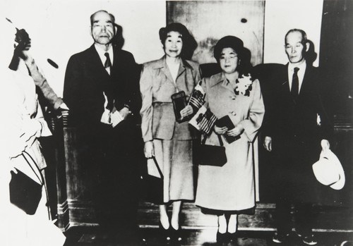 After becoming citizens of the United States. L-R: Mr. Tameji Eto, Mrs. Take Eto, Mrs. Toyo Hayashi