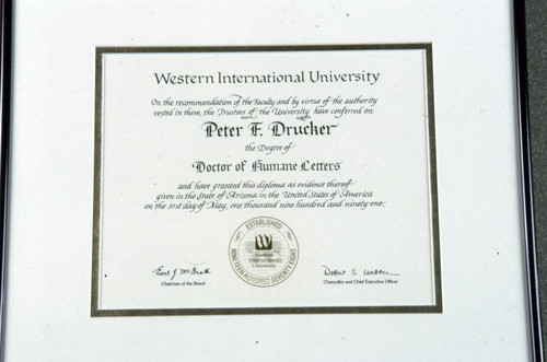 Western International University honorary degree