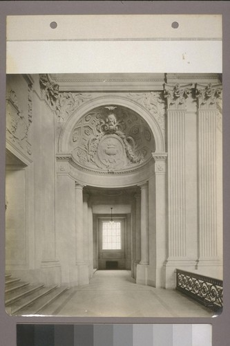 [Gallery, with sculpted arch.]