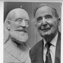 George R. Jenkins, Sacramento sculptor known for his sculptures of California governors, senators and others, celebrates 90th birthday
