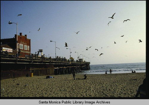 Calisphere Sinbads Restaurant On The Santa Monica Pier