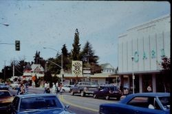 View north from Carlson's on Main Street and McKinley Street, Sebastopol, California, about 1970s