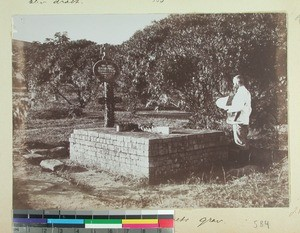 Benjamin Escande and Paul Minault's graves, Ramainandro Mission Station, Madagascar,1901