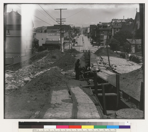 [Ruins of Presidio and Ferries cable line. Union St., near Steiner St.]