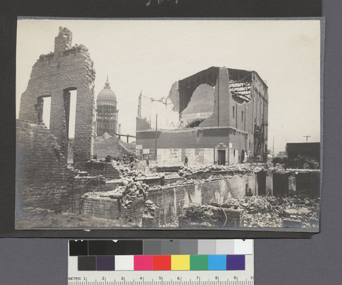 [Ruins of Majestic Theatre near Market and Ninth Sts. Dome of City Hall in distance, left center.]