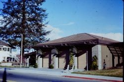 Sebastopol Fire Station at the corner of Bodega Avenue and Jewell Street, about 1975