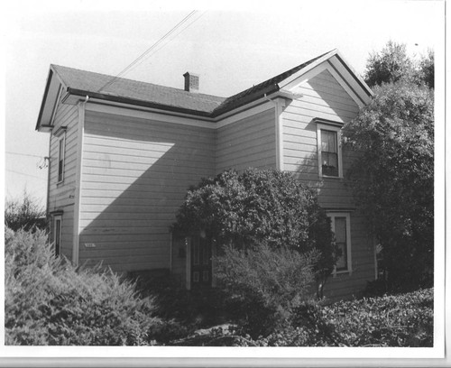 Circa 1880 Greek Revival house in the Morris Addition, at 191 North High Street, Sebastopol, California, 1993