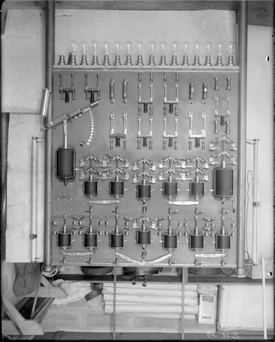 Switchboard for the 60-inch telescope, Mount Wilson Observatory