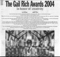 The Gail Rich Awards 2004