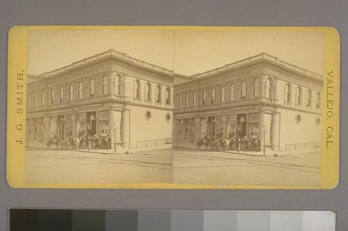 [Business of Plummer & Robinson, Vallejo. Photograph by James G. Smith.]