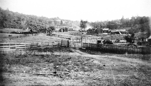 Rancheria near Ukiah--View of houses (Could be Beatty Rancheria)