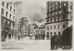 [Burning of Winchester House at Third and Stevenson, south of Market St. Hearst Building, left; Call Building, right]