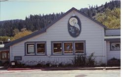 Blue Heron Inn building in Duncans Mills, California, about 1983