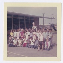 Alma Andrade's 1st grade class photo at Aeolian School, Los Nietos, California