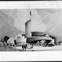 Academy Theatre, Inglewood, photograph of rendering