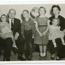 Young family portrait, ca. 1955
