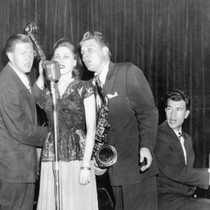 1947: The Three D's. Don Ratto, Frances Lynn, Darrell Cutler,and Dave Brubeck