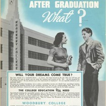 After Graduation, What?: Advertisement for a Woodbury College Marketing Brochure