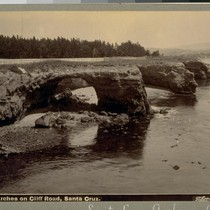 Arches on Cliff Road, Santa Cruz. B 1366. [Photograph by Isaiah West ...