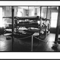 Angel Island Chinese immigrant detention center, dormitory room interior. San Francisco Bay, ...