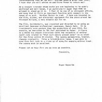 Ping: Correspondence: Letter to Samuel Beckett from Roger Reynolds; page 2