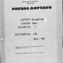 Patrol Reports. Bougainville District, Buin , 1949 - 1951