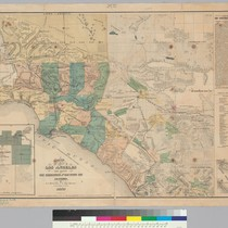 Map of the County of Los Angeles and parts of San Bernardino ...