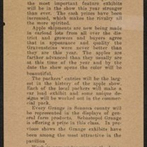 Gravenstein Apple Show press piece, 'Districts lining up for the apple show
