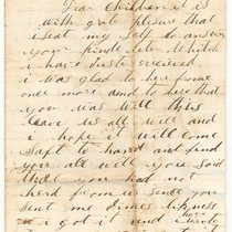 "Februrary 20, 1871 Letter ""Dear Children"""
