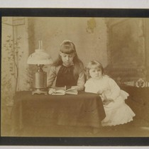 [Portrait of Daisy, left, and Louise Taber. Photograph by Isaiah West Taber.]