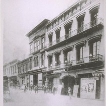 Maguire's Opera House. North side of Washington between Montgomery and Kearny. Gas ...