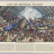 Life in Britain To-day [interior of train station]