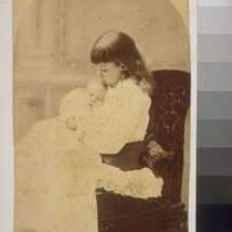 Daisy Taber, 9 years. Louise Taber. [Photograph by Isaiah West Taber.]