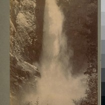 Bridal Veil Fall [Yosemite Valley]. 409. [Photograph by George Fiske.]
