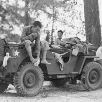 Hot Mississippi. Members of the 442nd combat team drape themselves on a ...