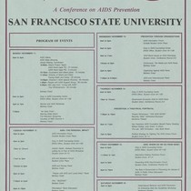 """AIDS Prevention Project … A Conference on AIDS Prevention/ San Francisco State ..."