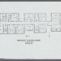 Floor Plan of the Wincrest Nursing Home, third floor