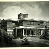Clark residence, exterior, front view