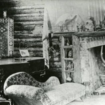 Fireplace in the party room at Camp Ho Ho, Larkspur, circa 1885 ...